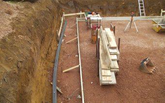 Baugrube in Arbeit