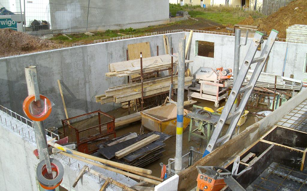Keller mit Außenwänden