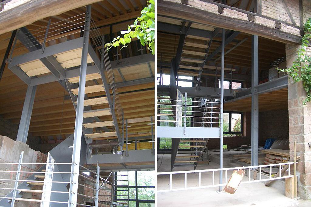 Umbauarbeiten Treppe
